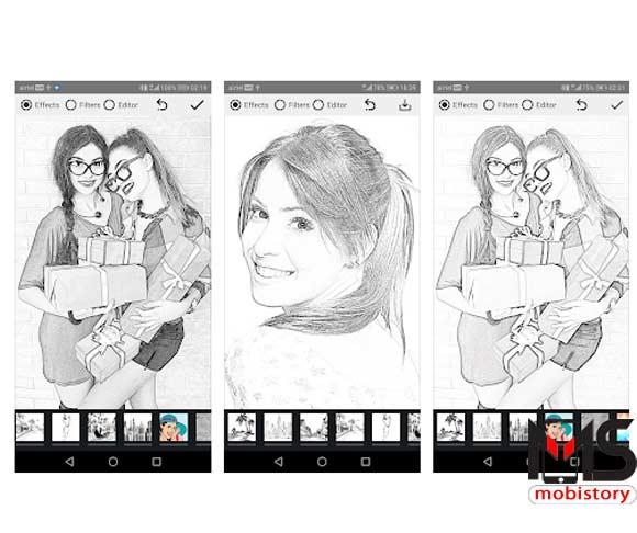 برنامج تحويل الصور الى رسم بالرصاص للايفون